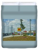 Line For The Swing Bridge Duvet Cover