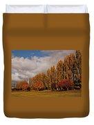 Line Of Trees Duvet Cover