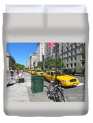 Lined Up For Business Duvet Cover