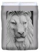 Lion In Stone Duvet Cover
