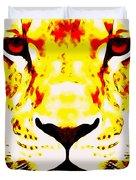 Lion In Winter Duvet Cover