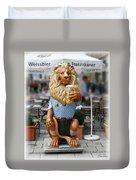 Lion Of Beer Duvet Cover