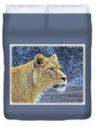Lion Stare Duvet Cover