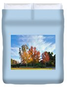 Liquid Amber Trees Duvet Cover