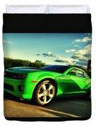 Liquid Green Duvet Cover