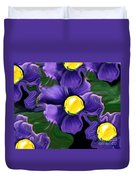 Liquid Violets Duvet Cover