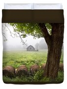 Little Barn Duvet Cover by Debra and Dave Vanderlaan
