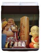 Little Buddhas In Silom In Bangkok In Thailand Duvet Cover
