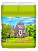 Little Cottage By The Sea Duvet Cover