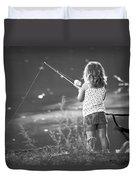 Little Fishing Girl Duvet Cover