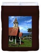 Little Green Church In Hawaii Duvet Cover