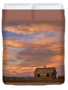 Little House On The Colorado Prairie Duvet Cover