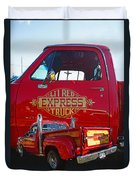 Little Red Exprees Door Hdr Duvet Cover