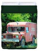 Little Red Firetruck Duvet Cover