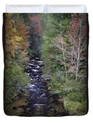 Little River - North Carolina Autumn Scene Duvet Cover