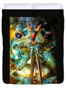 Live New England American Lobsters From Cape Cod Duvet Cover