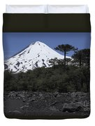 Llaima Volcano, Araucania Region, Chile Duvet Cover