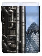 Lloyds Of London And The Gherkin Building Duvet Cover
