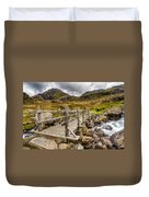 Llyn Idwal Bridge Duvet Cover by Adrian Evans