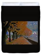 Locarno In Autumn Duvet Cover