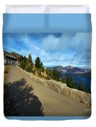 Lodge On The Crater Duvet Cover