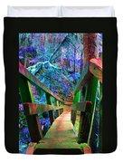 Log Bridges Duvet Cover