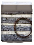 Log Cabin And Barbed Wire Duvet Cover