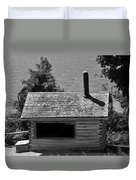 Log Cabin At Discovery Harbour Duvet Cover