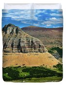 Logan Pass Panorama Duvet Cover
