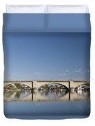 London Bridge And Reflection Duvet Cover