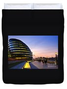 London City Hall At Night Duvet Cover