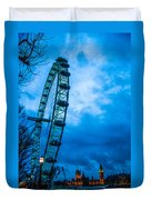 London Eye At Westminster Duvet Cover