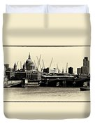 London From The Southbank Duvet Cover