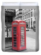 London Phone Box Duvet Cover