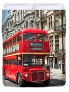 London Red Bus Duvet Cover
