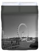 London Skyline Edf Eye Bw Duvet Cover