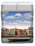 London Skyline From Thames River Duvet Cover