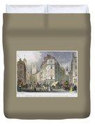 London: Street Scene, 1830 Duvet Cover