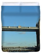 London Tower Bridge Looking Magnificent In The Setting Sun Duvet Cover