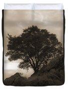 Lone Oak 2 Sepia Duvet Cover