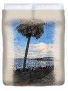 Lone Palm Tree Duvet Cover