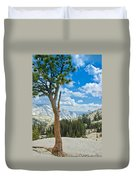 Lone Pine At Half Dome Duvet Cover