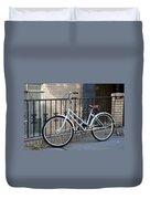 Lonely Bike Duvet Cover