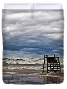 Lonely Lifeguard Chair 2 Duvet Cover