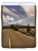 Lonesome Hiway To Shasta Duvet Cover