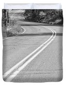 Long And Winding Road Bw Duvet Cover