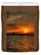Long Beach Harbor Sunrise Duvet Cover