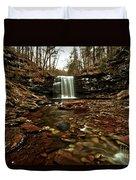 Long Canyon Waterfall Duvet Cover