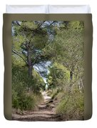 Long Forest Road Duvet Cover