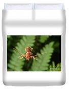 Long-horned Beetle In Flight Duvet Cover